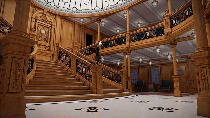 Replica The stairs of the Titanic