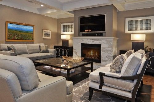 Wall color for living room brookline beige hc 47 by benjamin moore house ideas living - Living room tv ideas ...