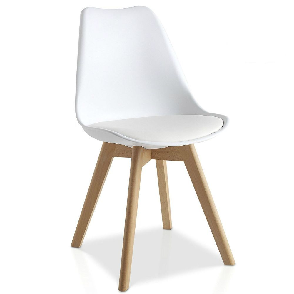 mmilo tulip pyramid dining chair office chair with solid wood