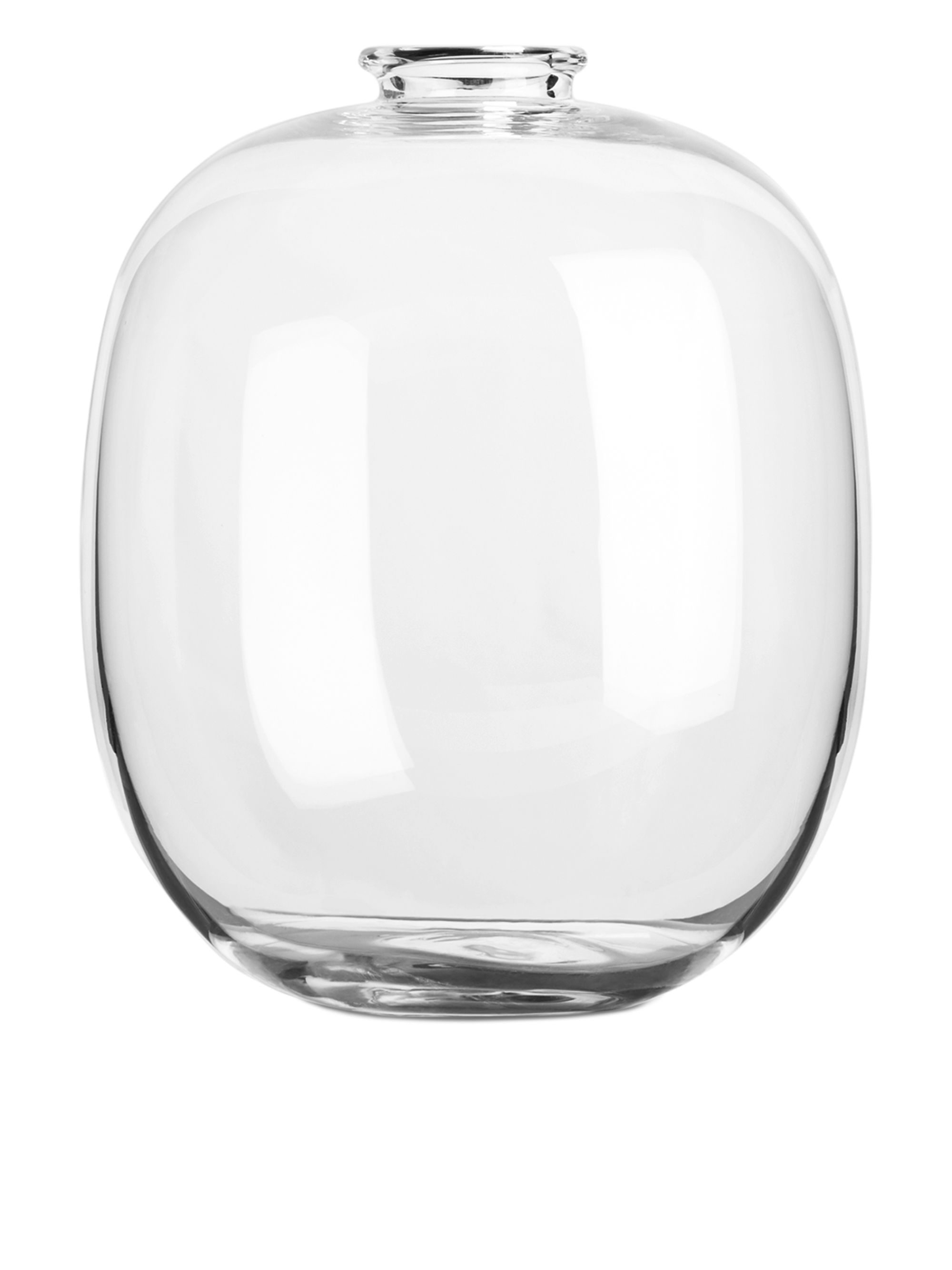 570086 724  Large Rounded Vase With An Elongated Shape, This