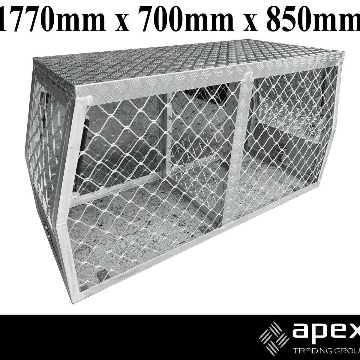 Ute Aluminium Dog Cage Apextrading Com Au Dog Cages Puppy Safe Dog Box