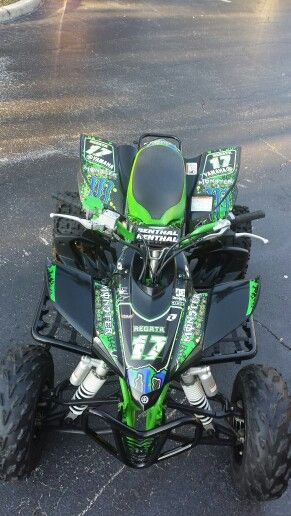 Yamaha YFZ 450 atv graphics. Kit by Fireblade Graphics and Signs. Look us up on Facebook