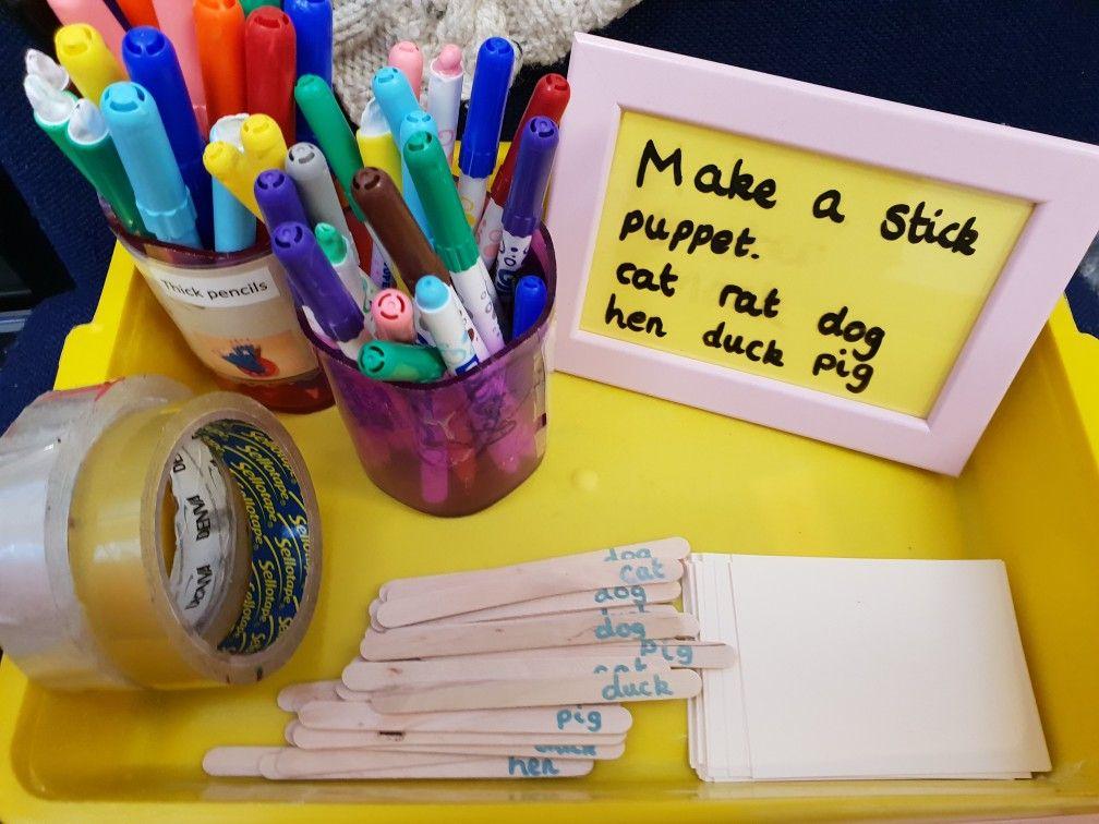 CVC phase 2 words, blending practise for making stick ...