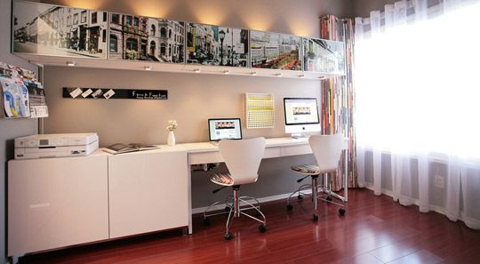 IKEA Besta with Photo Gallery Doors Cupboard, Monitor