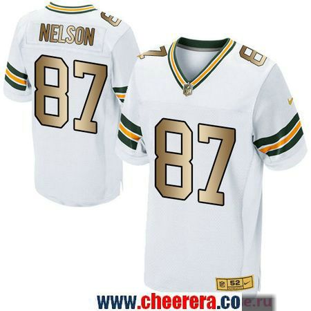 half off fb7a7 952d6 mens green bay packers 87 jordy nelson elite jersey white ...