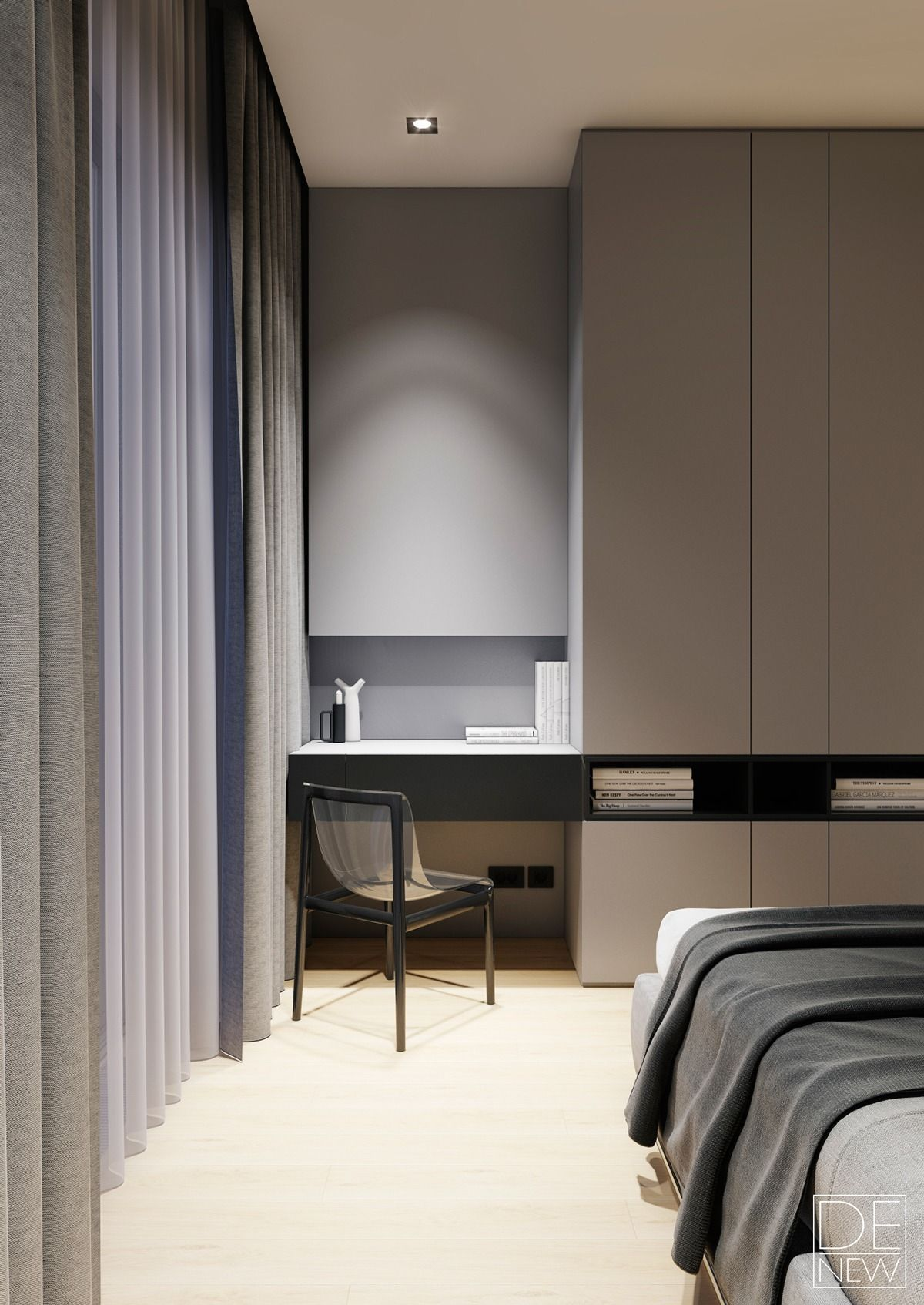 Hotel Room Desk: The Master Bedroom Expresses Texture In A Much More