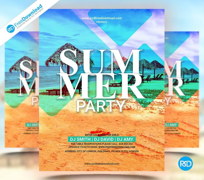 Summer Party Flyer Template Psd Flyer, Poster, Summer, Beach, Pool,  Vocation, Swimming, Summer Beach, Swimming Pool, Summertime, Psd, Psd Free,  Downloadpsd, ...