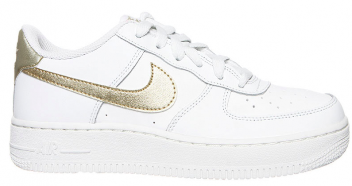 Nike Air Force 1 GS 314219-127 Wit / Goud | Nike air force ...