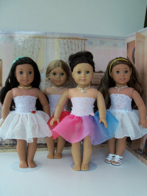 Like American Girl Doll Clothes / Fancy Slip with Attached Strapless Cami / Farmcookies 18 Inch Clothes #girldollclothes