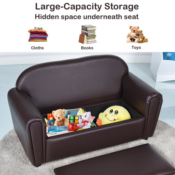 Gymax Kids Sofa Armrest Chair Lounge Couch Wood Construction Storage Box Living Room Walmart Com In 2020 Kids Sofa Kids Couch Toddler Furniture #toddler #chair #for #living #room
