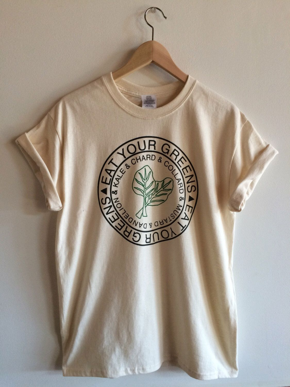 Graphic Tee, Kale Screen Print Tshirt, Garden Clothing