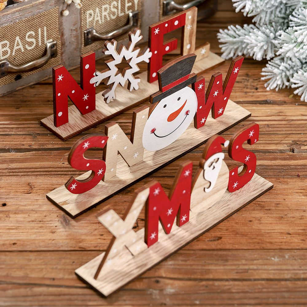 4 Knots Christmas Train Painted Wooden Christmas Decoration For Home With Santa Kids Toys Ornament Navidad 2019 New Year Gift Q In 2020 Wooden Christmas Decorations Christmas Table Decorations Christmas Decorations Xmas