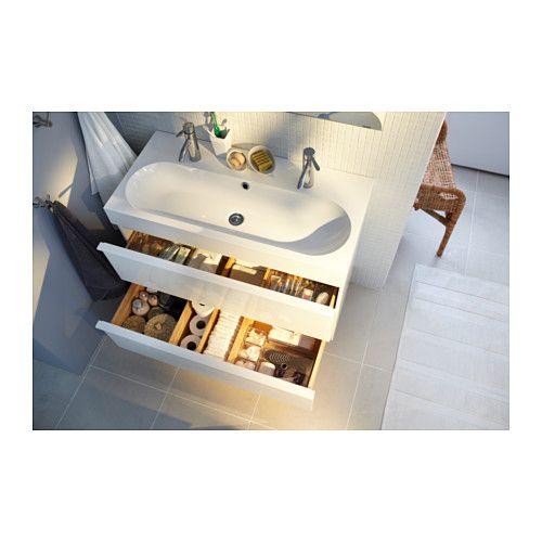 godmorgon br viken waschbeckenschrank 2 schubl hochglanz wei ikea wohnen pinterest. Black Bedroom Furniture Sets. Home Design Ideas
