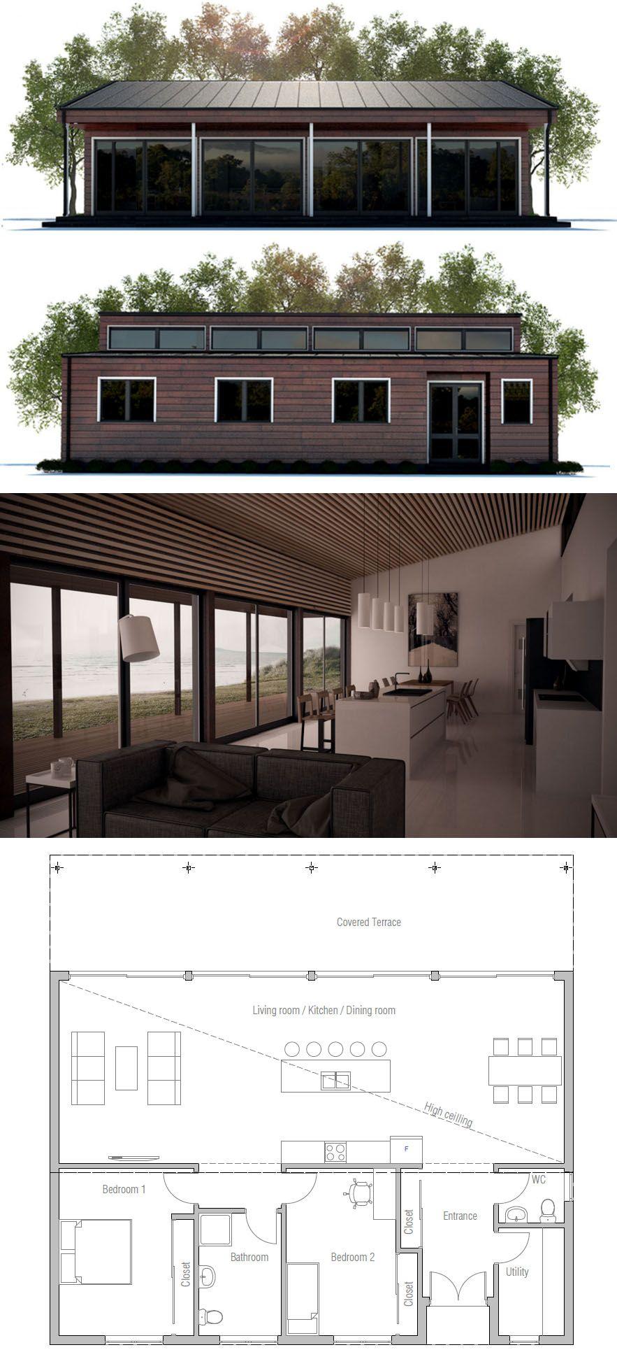 Small Home Plan, Planta de Casa, Planos de Casa, Casa, Arquitetura   Plan maison, Maison quebec ...