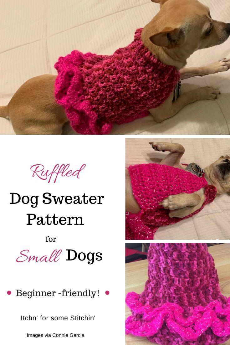 Small Dog Sweater Free Crochet Pattern | Small dog sweaters