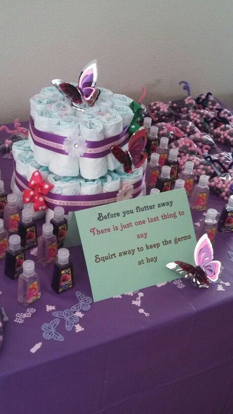 Erfly Baby Shower Favor Table