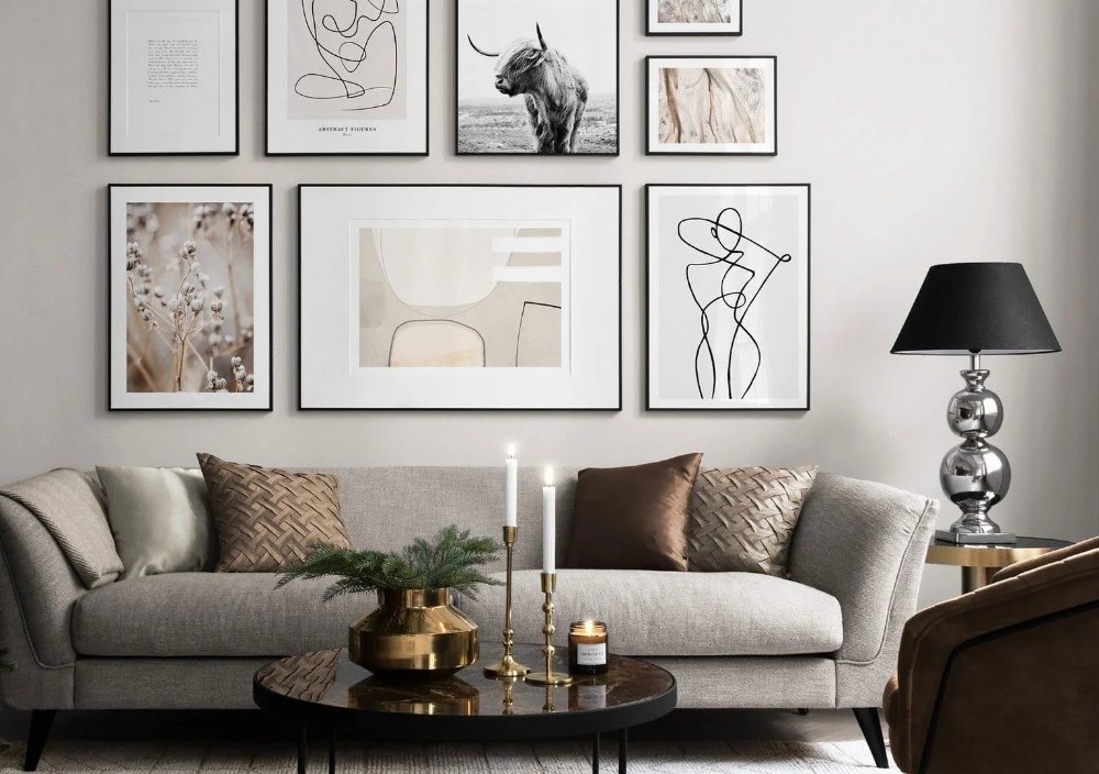 10 Gallery Wall Ideas To Display Your Art Photos Gallery Wall Living Room Large Gallery Wall Gallery Wall