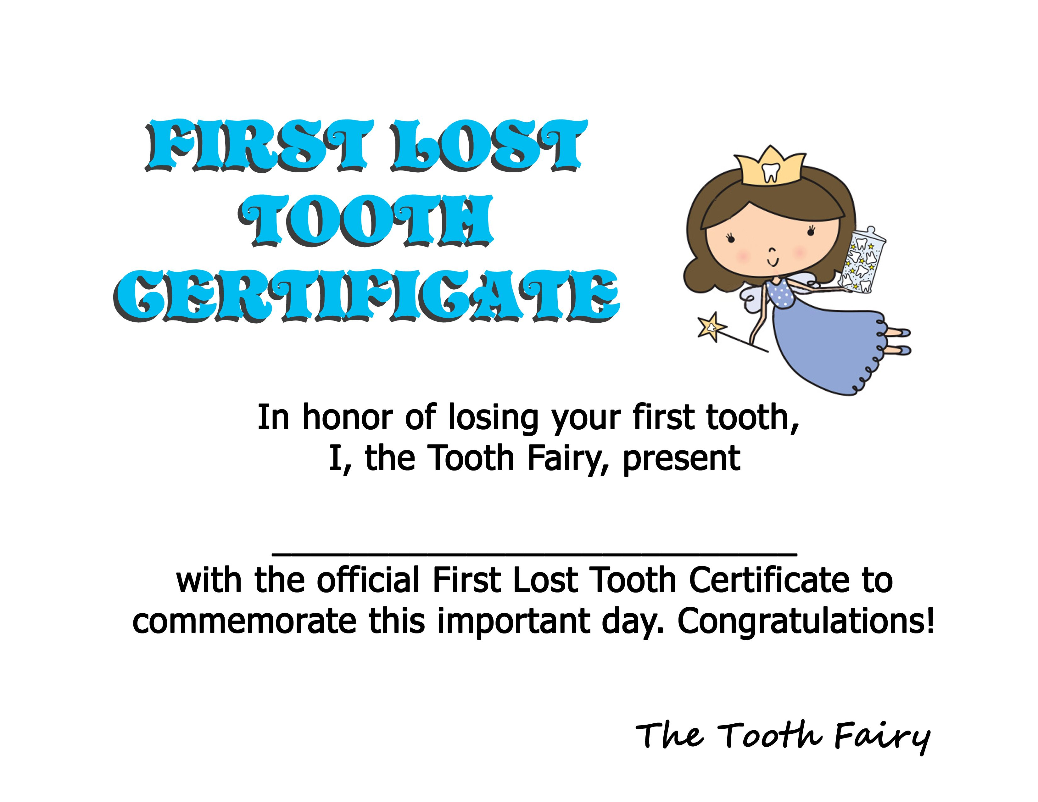 First Tooth Certificate J Lost His First Tooth Tonight I Combined 2 Ideas I Found On Here