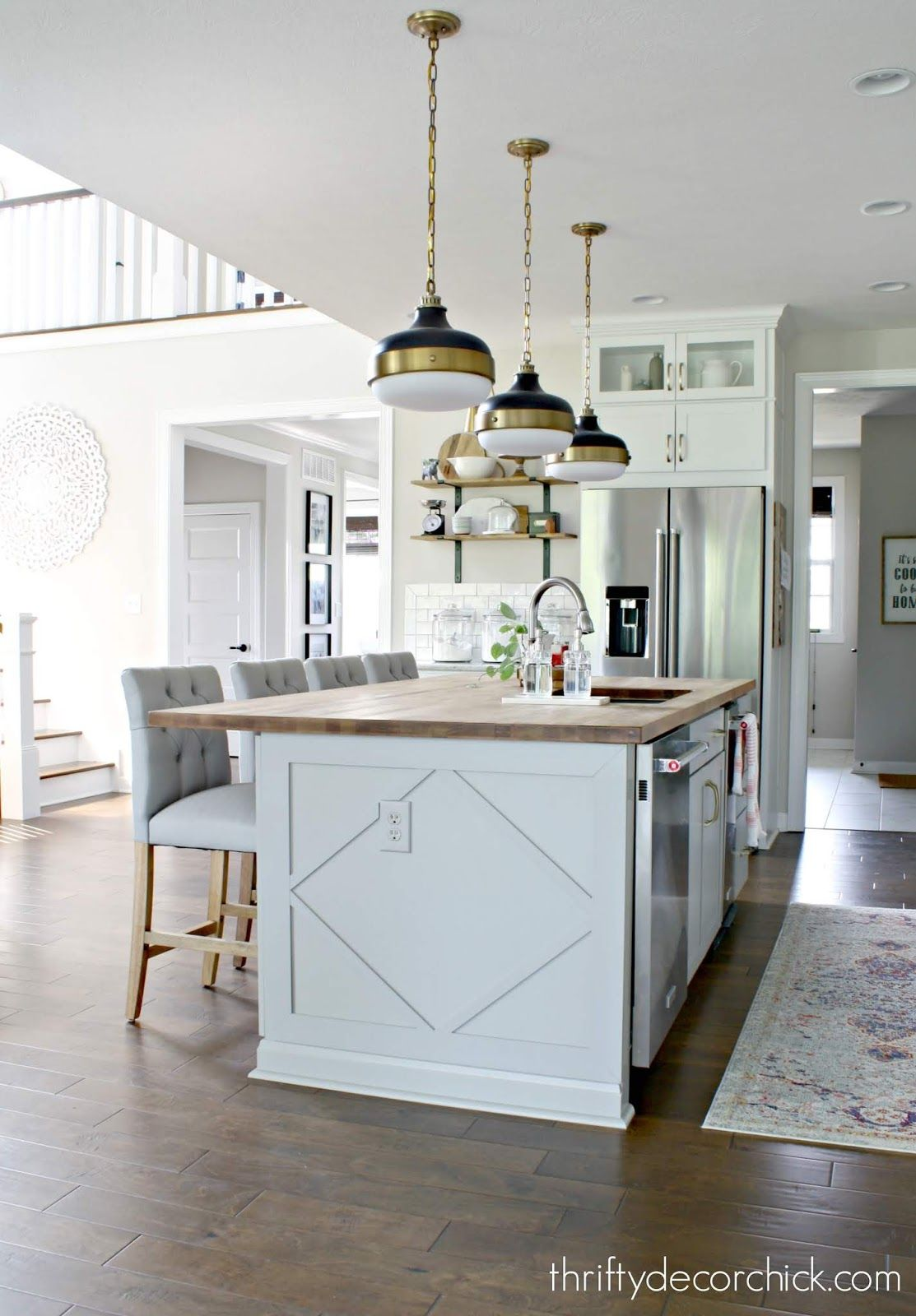 Adding custom detail to a plain kitchen island | Getting Crafty ...