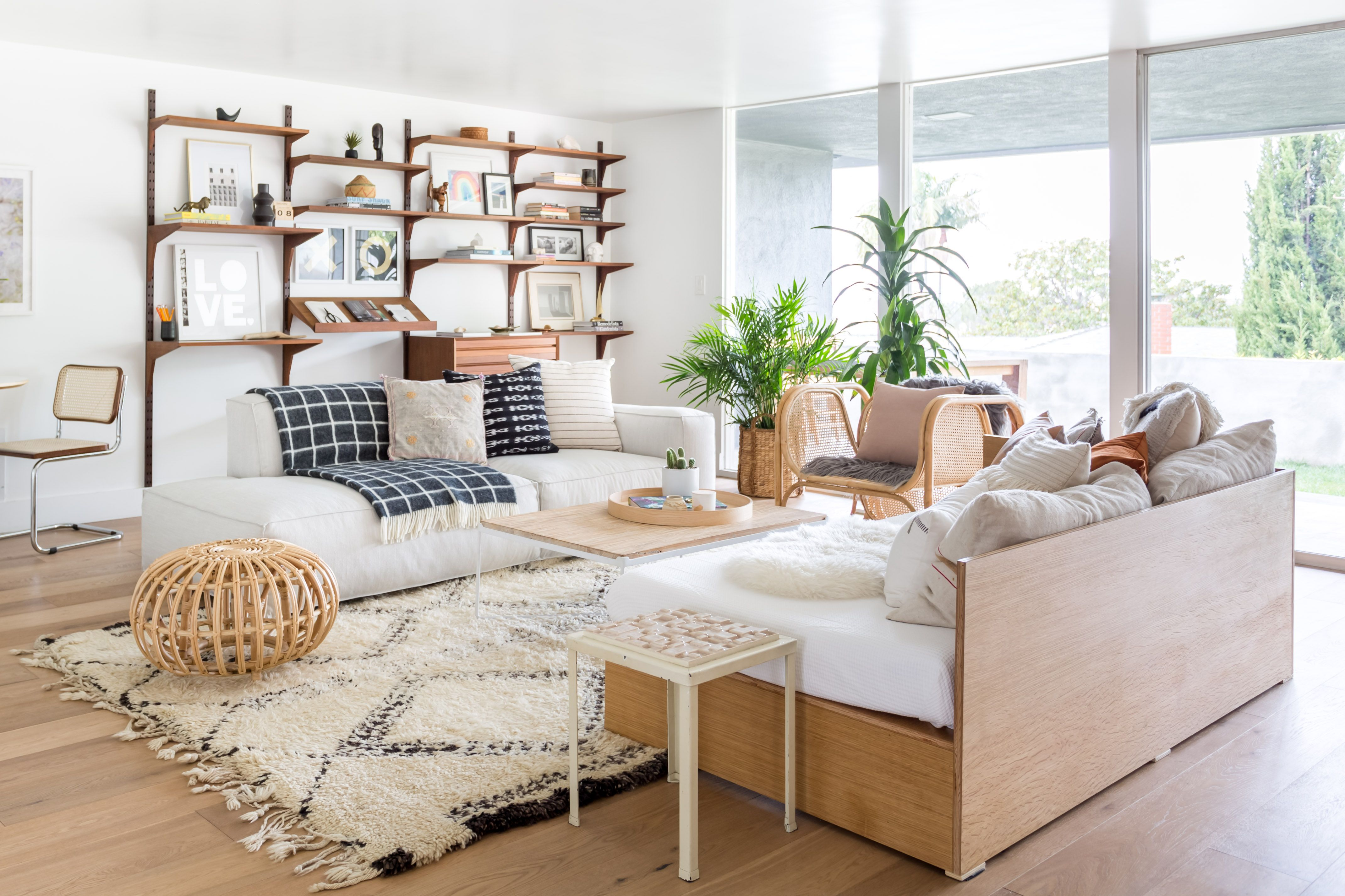We Re Obsessed With Scandifornian Style An Interior Design Trend You Already Know And Probably Love Hunker Interior Design Modular Sofa Interior Design Trends Homemade room decoration style trend