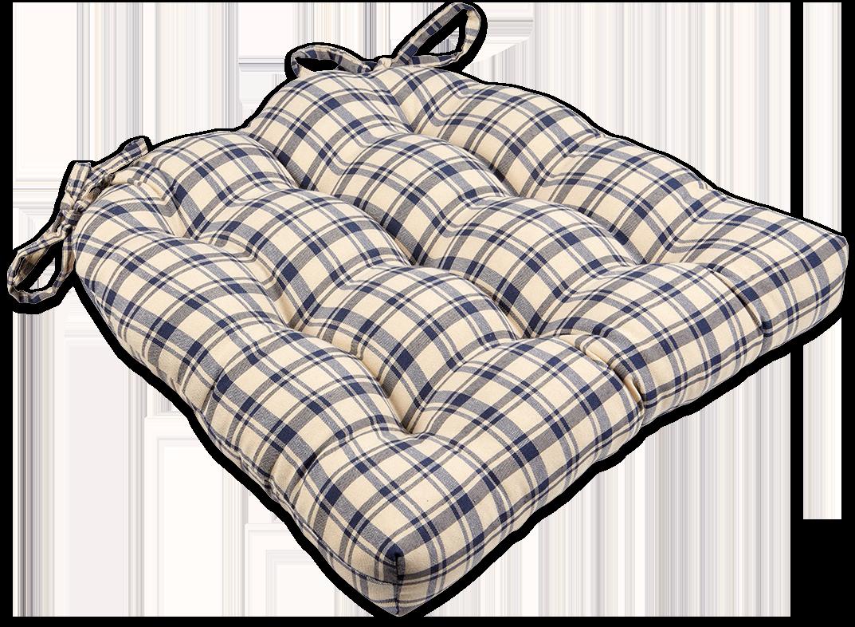 Blue U0026 Natural Plaid Dining Chair Pads U0026 Rocking Chair Cushions #blue #plaid  #farmhouse