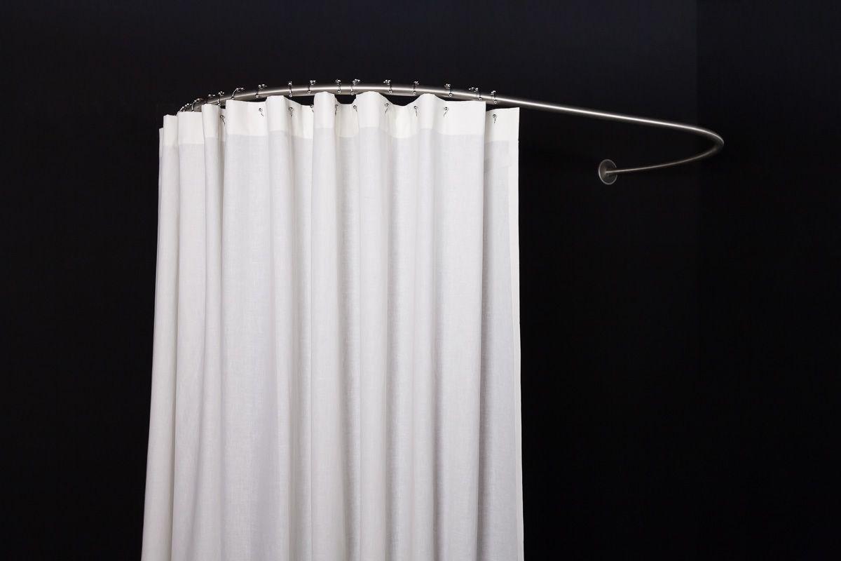 cabine de douche textile ovale murale galbobain pour. Black Bedroom Furniture Sets. Home Design Ideas