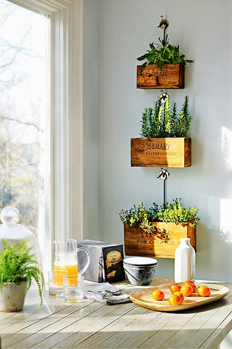 Herb Boxes For Kitchen Part - 23: Antique Passion : Photo. Hanging HerbsHanging PlantersHanging ...