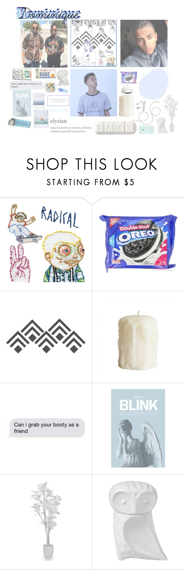 """""""Dominique Amari"""" by anon-lordz ❤ liked on Polyvore featuring WALL, Blink, Polaroid and Jonathan Adler"""
