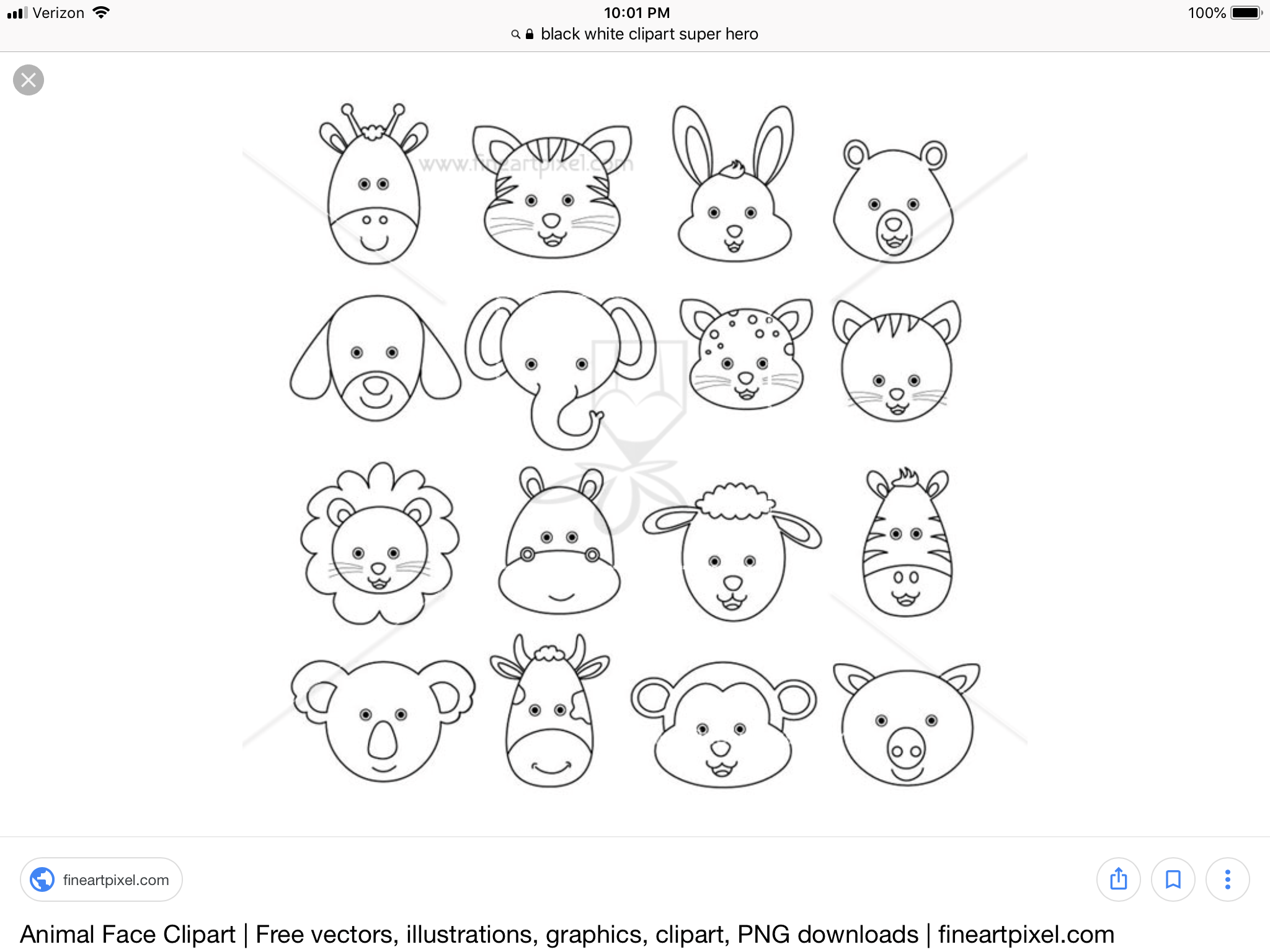 Pin By Bliss Hariel On Clipart Free Clip Art Animal Faces Clip Art