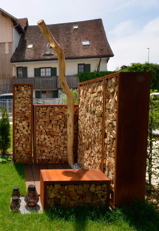 Gardendusche Outdoor Dusche Aus Holz Dusche Fur Draussen Badewanne Garten Gartengestaltung Dusche