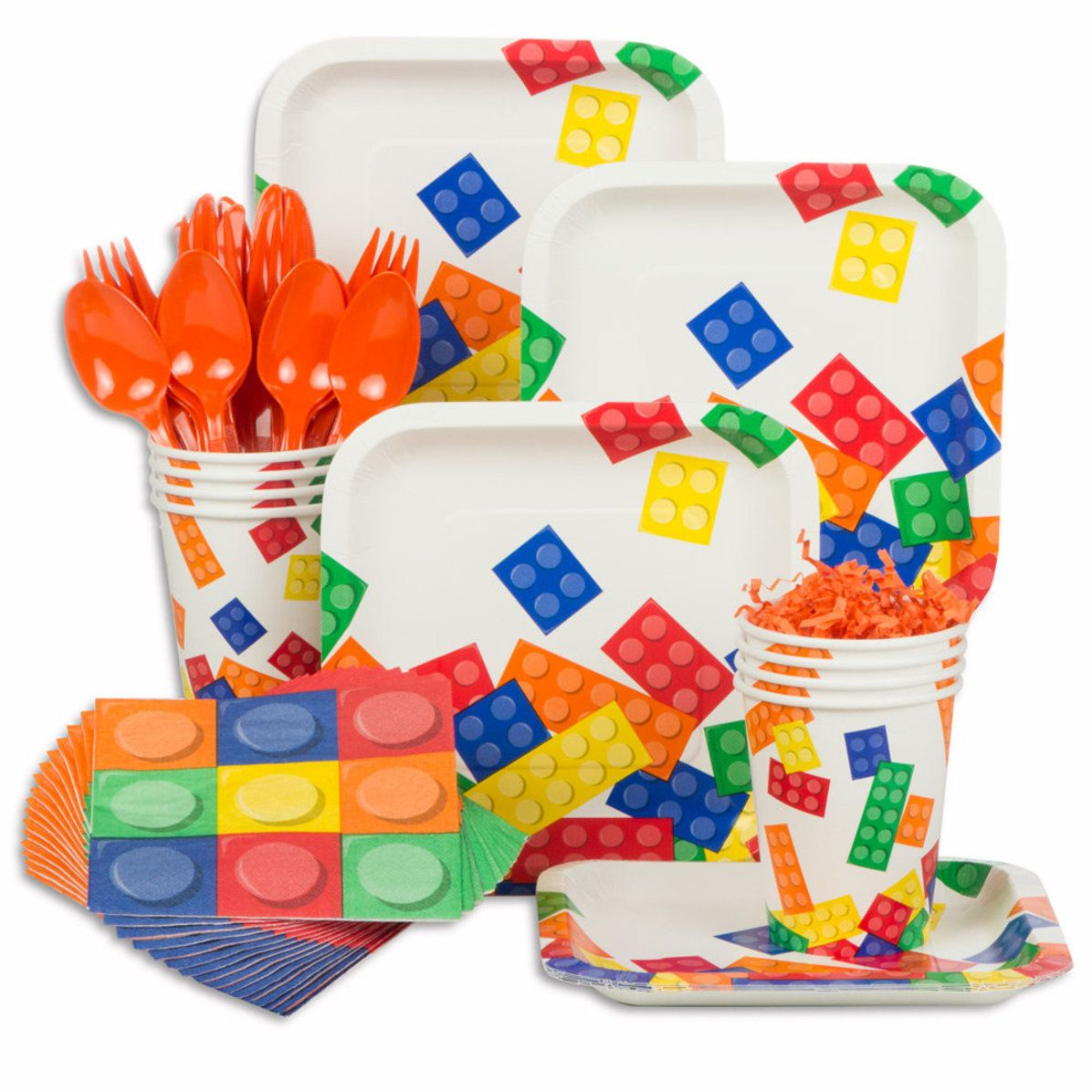 Block Party Birthday Standard Tableware Kit (Serves 8
