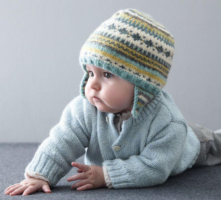 On adore le look de ce bonnet au style nordique pour affronter la morosité  de l hiver. Tricoté en Laine Phil soft +, coloris Ecru, Nuage, Céleri, ... fa28de61f90