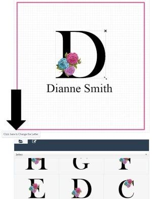How To Change The Letters Monogrammed Note Cards Note Card Template Note Cards