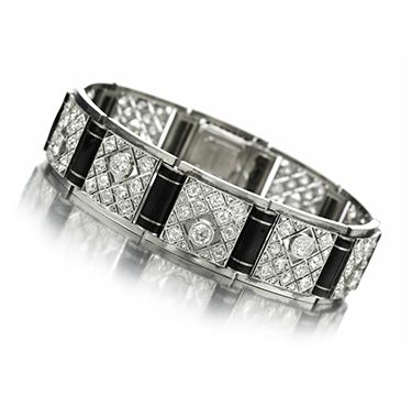 An Enamel, Diamond and Platinum Bracelet, by Boivin, circa 1920