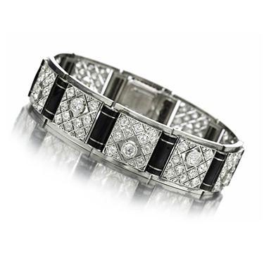 An Enamel, Diamond and Platinum Bracelet, by Boivin, circa 1920