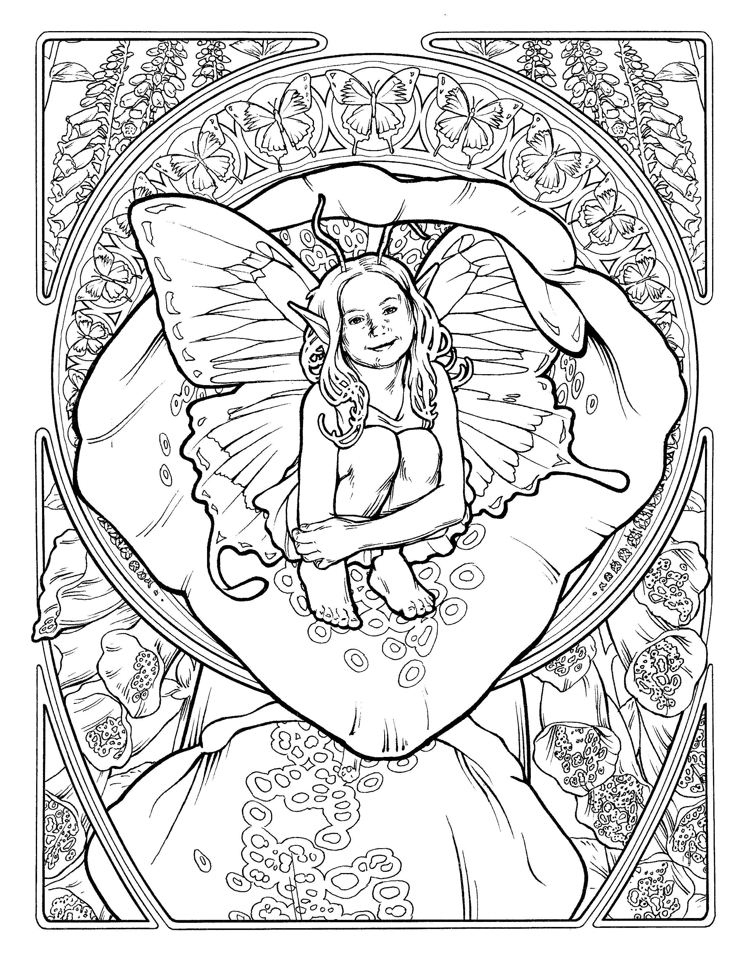 Pin by Brenda Mendenhall on Art I Like | Pinterest | Fairy, Coloring ...