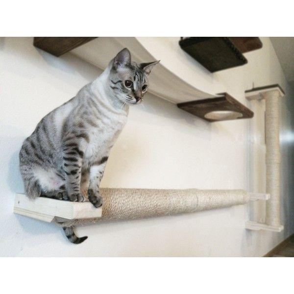 Wall Mounted Sisal Cat Pole Horizontal Runway Katze