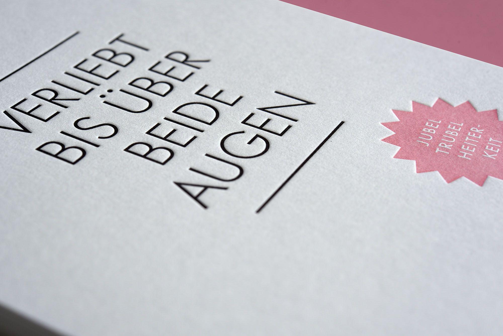 Drucktechnik Letterpress Papier Gmund Cotton Max White