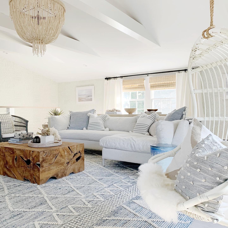 Ryder Denim Rug Serena Lily In 2021 Beach House Living Room Coastal Living Room Rugs Beach Living Room