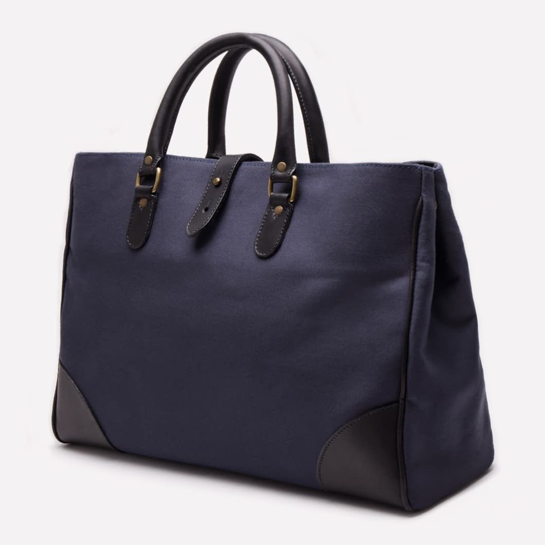 67cc59b83 Ettinger London - Luxury Leather Goods - Pursuits Piccadilly Canvas Tote in  Navy