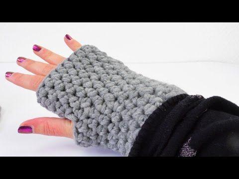 Häkeln Armstulpen Handschuhe Winter Halbe Maschen Einfach Easy