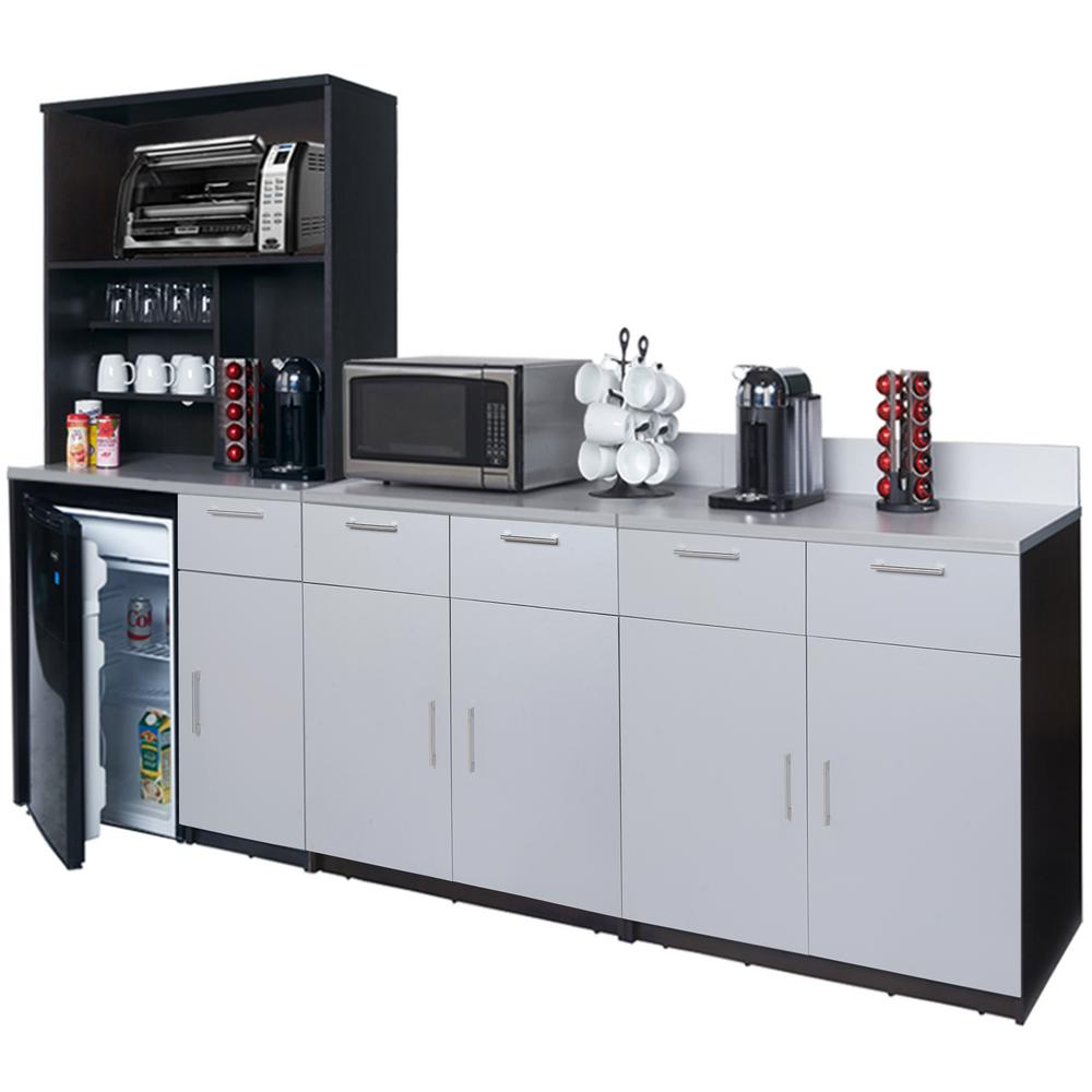 Best Breaktime Coffee Kitchen Espresso And Silver Sideboard 640 x 480