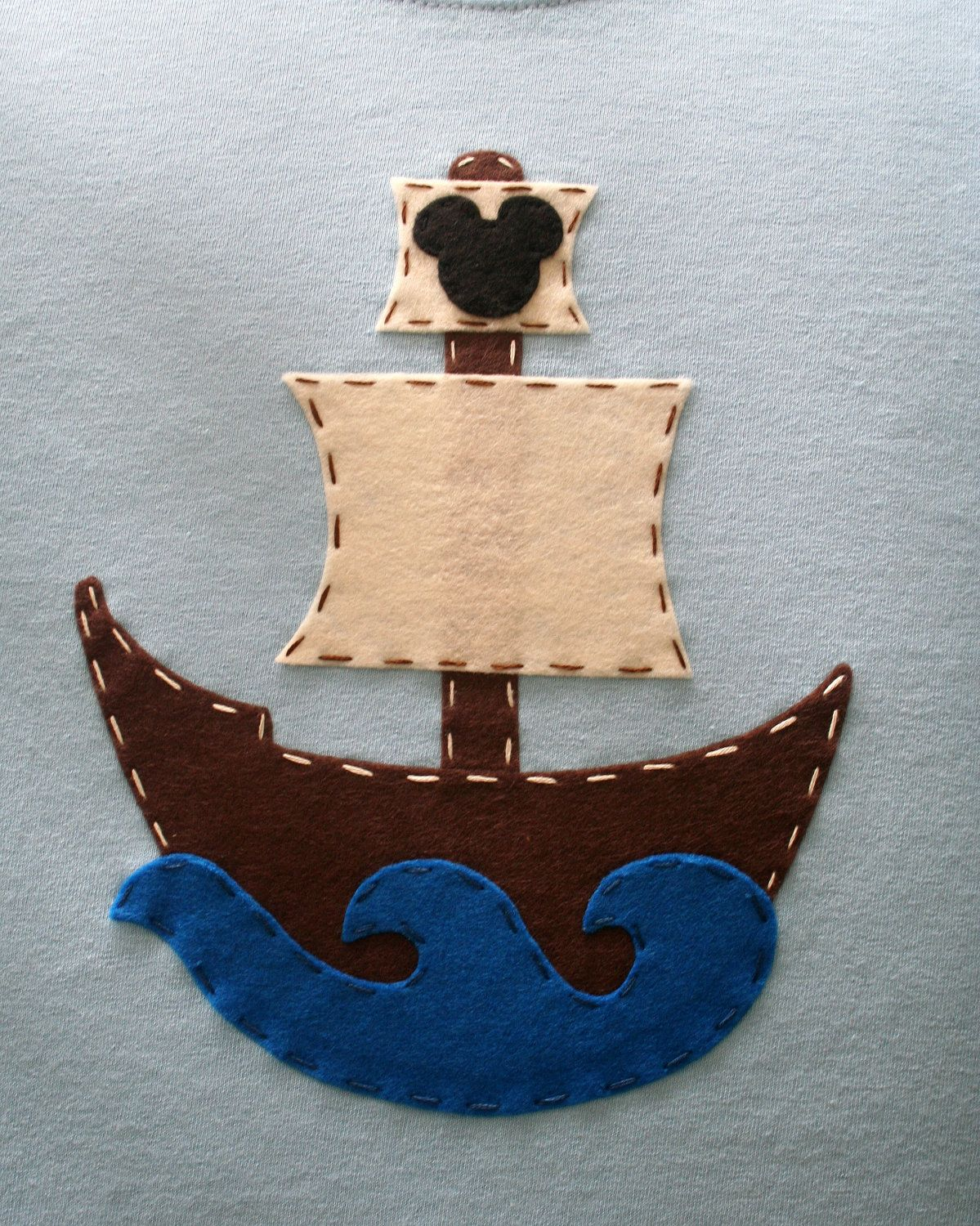 Customized Pirate Ship with Mickey or Initial Vacation or Birthday TShirt. $27.95, via Etsy.