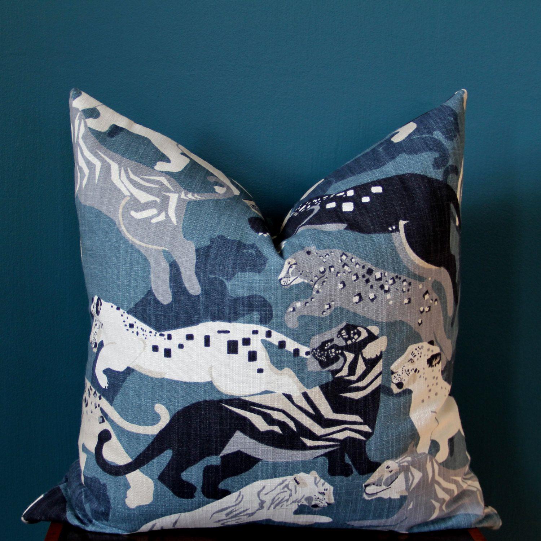 animal pillow cover  blue pillow cover  dwell studio pillow  - animal pillow cover  blue pillow cover  dwell studio pillow  leopardpillow cover  high end pillows  robert allen pillow  designer