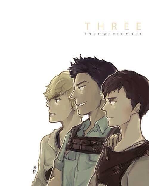 Newt, Minho, and Thomas