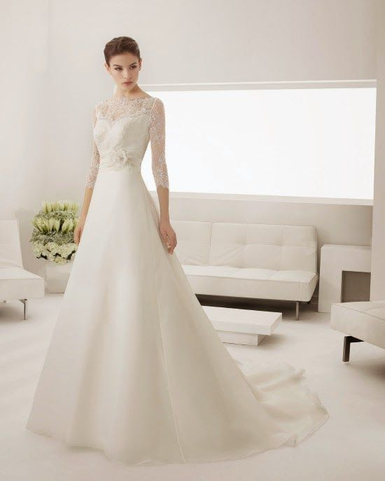 Vestidos de novia manga larga 2015