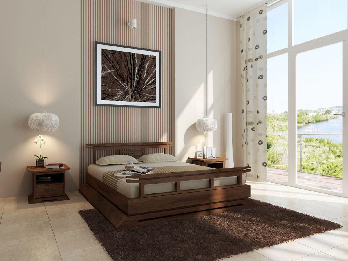 Asiatisches Schlafzimmer ~ Modernes zen schlafzimmer stil futon bett fensterrollos