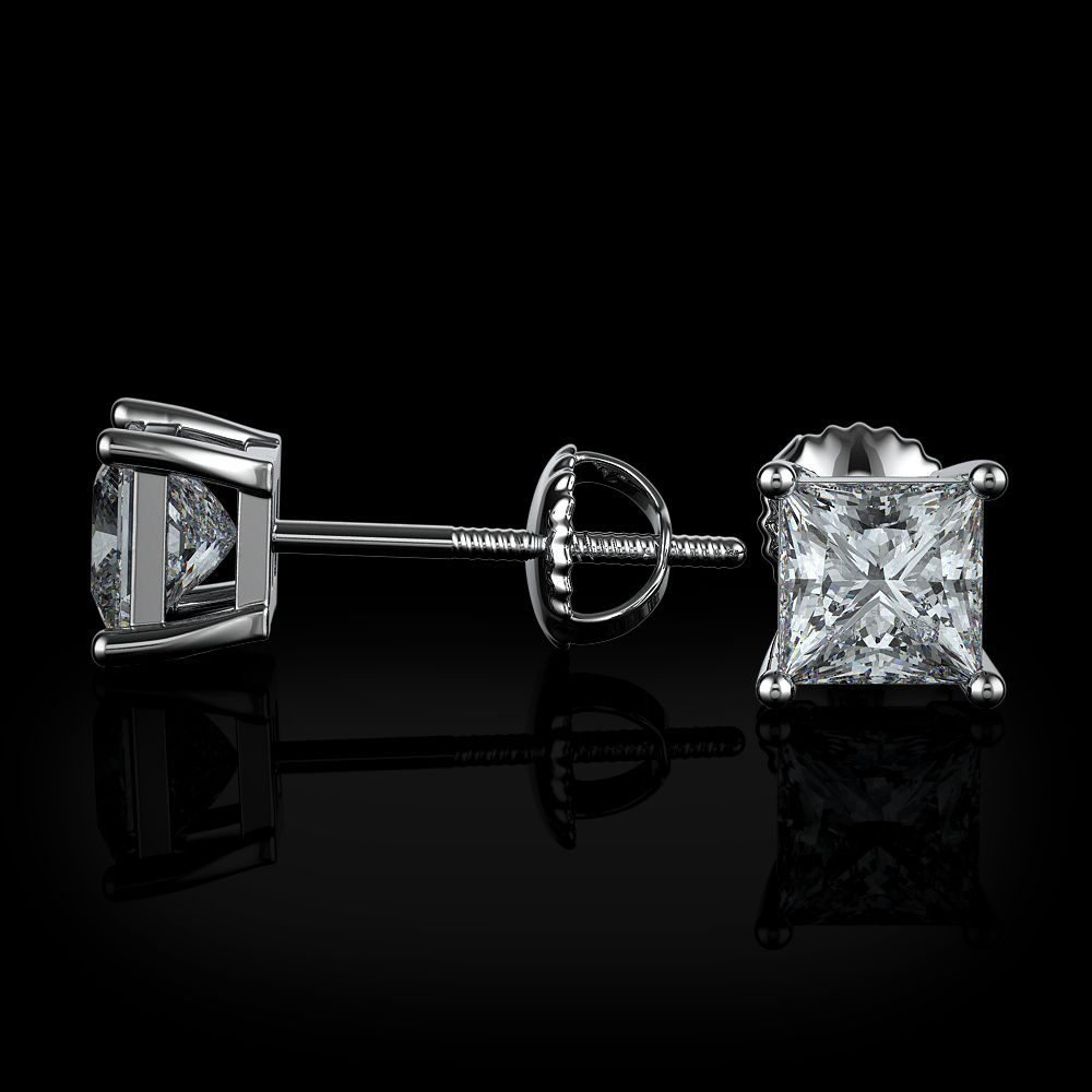 MENS /& LADIES 0.10ct BLACK DIAMOND PURE 14K YELLOW GOLD SCREW BACK STUD EARRINGS