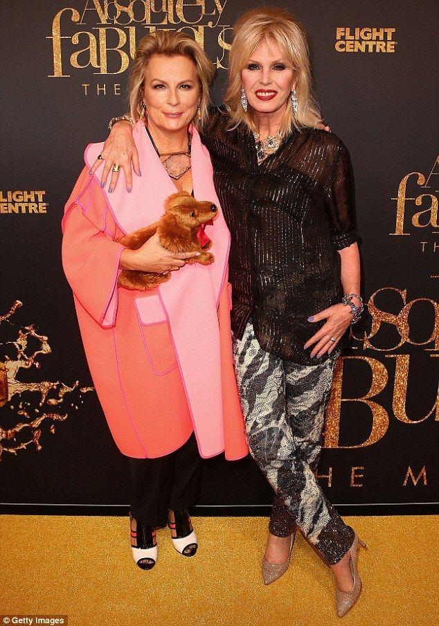 9fbebbb294a8 Jennifer Saunders (left) snubbed Kim Kardashian s request to star in the  sequel to Absolutely Fabulous  The Movie. Pictured with co-star Joanna  Lumley