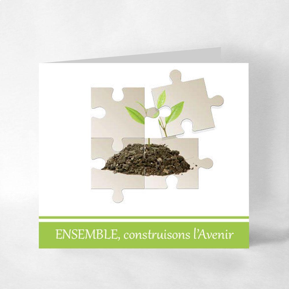 """Assez Carte de voeux """"Ensemble, construisons l'Avenir"""", impression sur  AT57"""